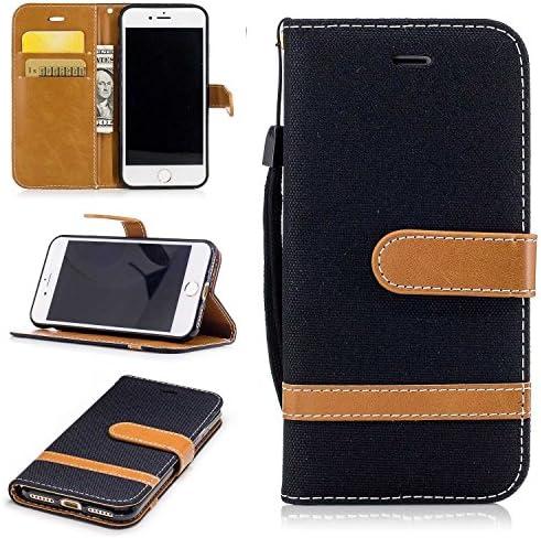 iPhone 7 / iPhone 8 ケース, Zeebox® PUレザー ス手帳 財布型カバー, Apple iPhone 7 / iPhone 8 対応 女性向 スマートフォンケース, 耐摩擦 耐衝撃 360°保護 財布型 ケース, スタンド機能 マグネット開閉式, 黒