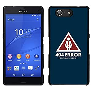 Design for Girls Plastic Cover Case FOR Sony Xperia Z3 Compact Girlfriend Relationship Sign Quote Art Symbol OBBA
