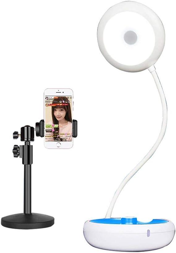 AZWE Anillo de luz con soporte para teléfono celular Soporte para ...