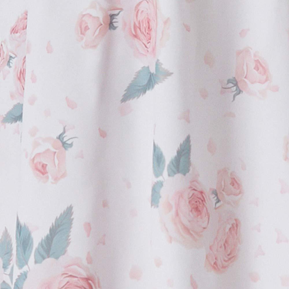Rose Umstands-Kleid mit Volant und Rosen-Design Freizeit Partykleid V-Ausschnitt Knielang /Ärmellos M.M.C Chiffon Damen Abendkleid Cocktail-Schwangerschaftskleid