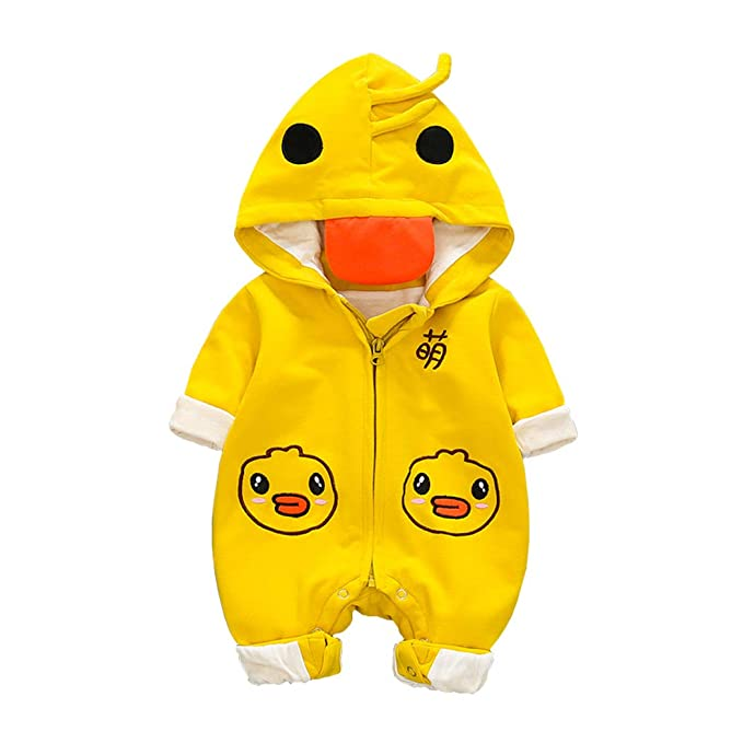 DorkasDE Baby Strampler Neugeborene Kleinkinder Strampleranzug Overall Cartoon Jumpsuit Sommer Babykleidung