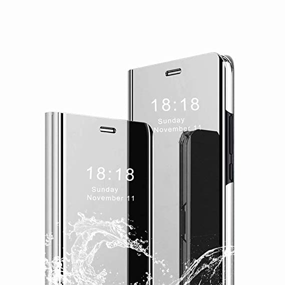 new concept bfbdb 257ca Amazon.com: Aidinar for Huawei P30 Lite Case, Mirror Smart Flip ...