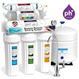 Home Water Treatment Low Ph 10-STAGE ALKALINE PH+ Home Drinking Reverse Osmosis System complete DELUXE + w/ pressure gauge -ROALK5DG