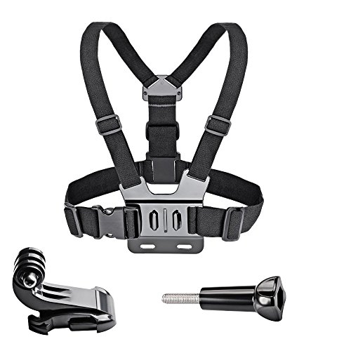 VVHOOY Adjustable Chest Mount Harness Compatible with Gopro Hero 7/6/5 Black Hero 4 Session AKASO EK7000 Brave 4 APEMAN FITFORT ODRVM Campark Crosstour Action Camera Accessories