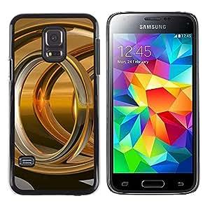 Paccase / SLIM PC / Aliminium Casa Carcasa Funda Case Cover - Abstract Gold Ring - Samsung Galaxy S5 Mini, SM-G800, NOT S5 REGULAR!