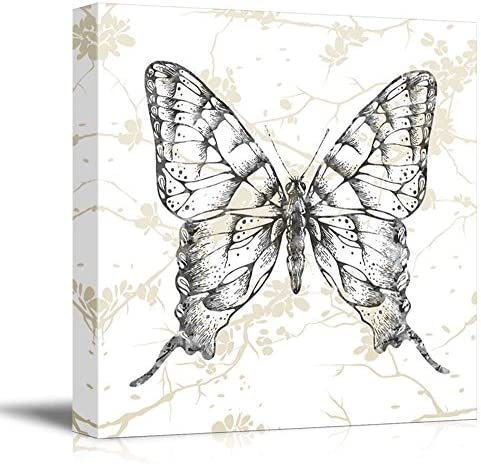 Square Butterfly Branches Pattern