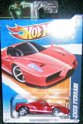 2011 HOT WHEELS NIGHTBURNERZ '11 6/10 RED ENZO FERRARI 116/244
