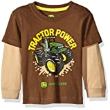 John Deere Boys' Tractor Power Tee, Brown/Khaki, 24 Months