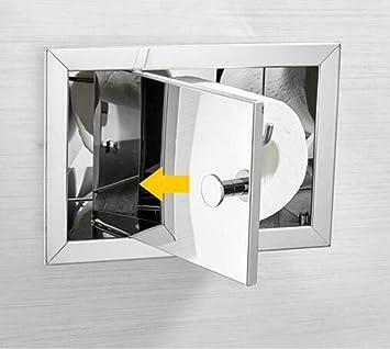 Porta Carta Igienica A Scomparsa.Aeoju Portarotolo A Scomparsa In Acciaio Inox 304 Supporto