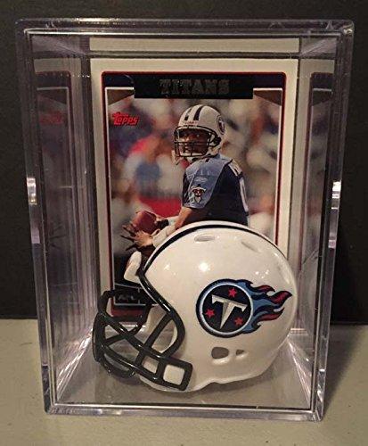 Tennessee Titans NFL Helmet Shadowbox w/ Steve McNair card ()