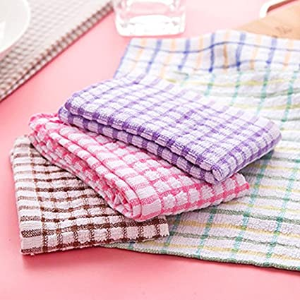 Aloud Creations Multicolor Kitchen Towel / Kitchen Napkin / Table Wipe Pack of 6 Pcs (15*25 Inches)