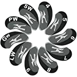 Mizuno Golf Iron head Covers 10pcs/set Black & grey MT/Mz03