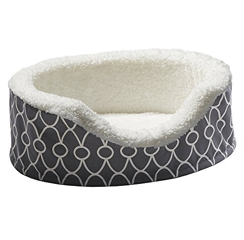 Midwest Cat Crate - MidWest Homes for Pets Orthoperdic Egg-Crate Nesting Pet Bed w/Teflon Fabric Protector, XS Gray
