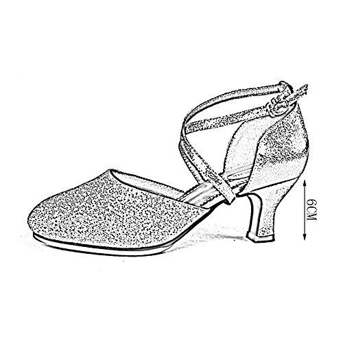 Farbe 5 Weicher Boden 3 Silber Tanzschuhe UK6 Farben Damen PENGFEI Schlüpfen größe Atmungsaktiv Frühling Absatz Stil 250mm EU40 Stiefeletten Mittlerer Lateinische Schuhe L Neuer vzqzxa1w