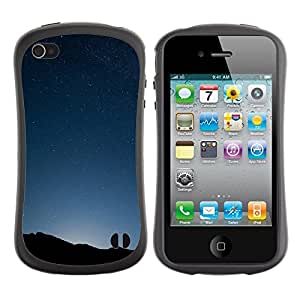 Paccase / Suave TPU GEL Caso Carcasa de Protección Funda para - Landscape View Sunrise Dawn Sunset Blue Sky - Apple Iphone 4 / 4S