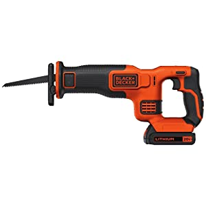 BLACK+DECKER BDCR20C 20V MAX Reciprocating Saw with Battery and Charger