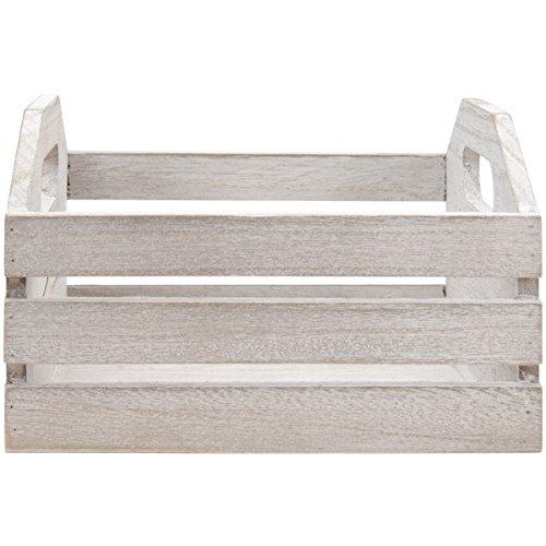 Hampton Art Mix The Media Wooden Crate with Handles, 7