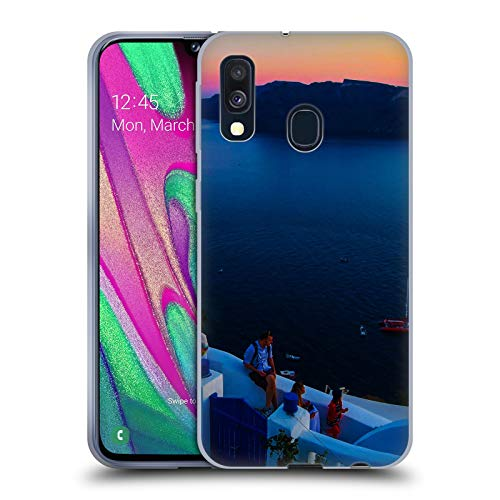 Official Haroulita Terrace Santorini Sunset Soft Gel Case Compatible for Samsung Galaxy A40 (2019)