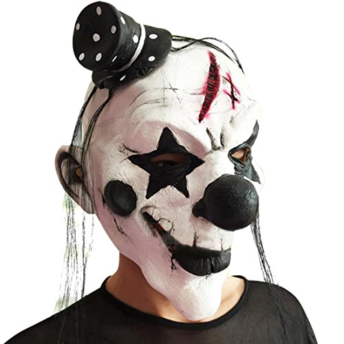 Freahap Clown Mask Latex Terror Halloween For Party Decorations Cosplay Props - Clown Masks For Kids