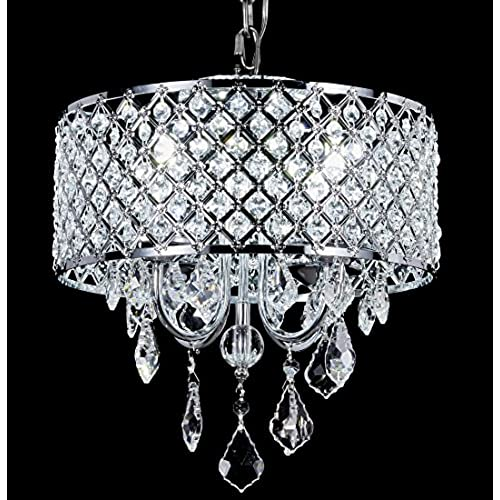 Chandelier modern crystal round for Contemporary chandeliers amazon