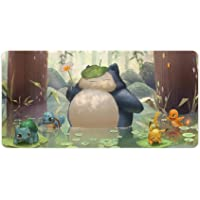 Anime Mouse pad,Pikachu Snorlax,Large Gaming Mouse Mat,Desk Mat,Waterproof Anti-Dirty No-Slip Stitched Edges Mousepad…
