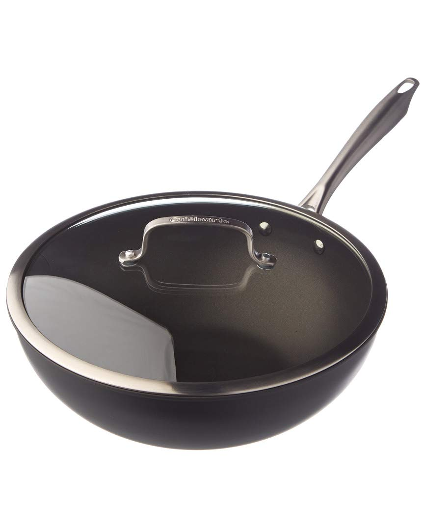 Cuisinart DSA26-30 Washer Safe Stir-Fry Wok with Glass Cover, 12-Inch