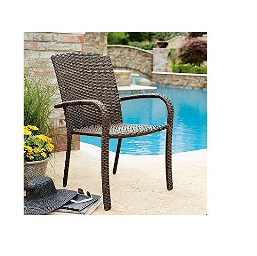 Member's Mark Heritage Woven Stacking Chair (4 pk.) | 100% handwoven around a durable frame (Discount Wicker Chairs)