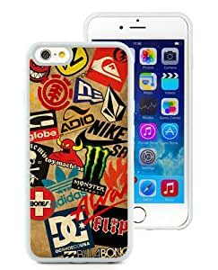 Unique iPhone 6/iPhone 6S TPU Case ,Fashionable And Durable Designed Case With Classic Skateboard Logos White iPhone 6/iPhone 6S TPU Phone Case