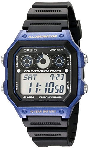 Casio Men's AE-1300WH-2AV Watch with Black Resin Band