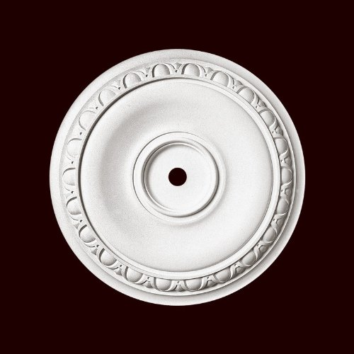 Chemcrest egg and dart Medallion 12 1/2 Inch Diameter Primed White Polyurethane Item # RM2424-EG-13