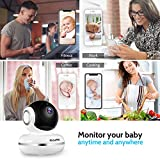 KidoMe Baby Monitor 1080P HD IP Camera Home WiFi Security Surveillance Camera for Baby Nanny Elder with Two Way Audio, Motion Sound Detection, Night Vision and Recording Compatible with iOS/Android