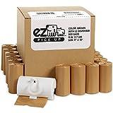 EZ 800 Dog Cat Poop Bags Pet Waste Litter Bags, Brown