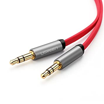Ugreen 10792 1m 3.5mm 3.5mm Rojo cable de audio - Cables de audio (