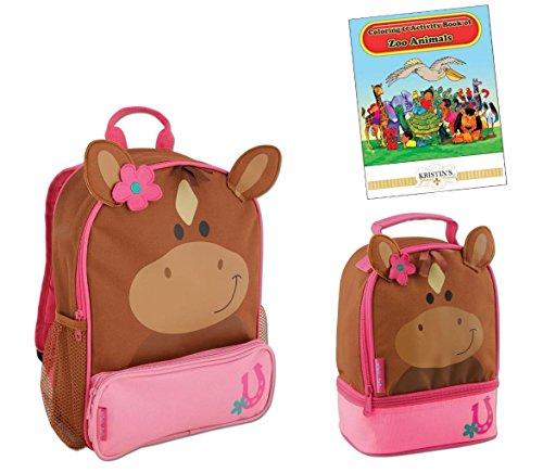 Stephen Joseph Sidekicks Backpack, Lunch Box, & Coloring