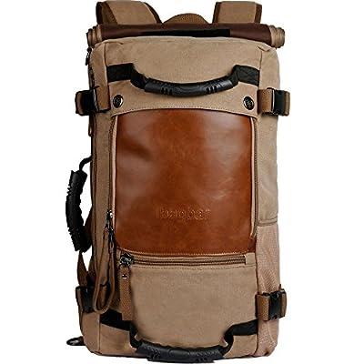 ibagbar Canvas Backpack Travel Bag Hiking Bag Camping Bag Rucksack