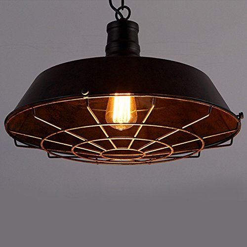 Warehouse Pendant Light With Cage