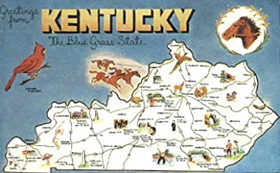 Greetings from, Kentucky Postcard