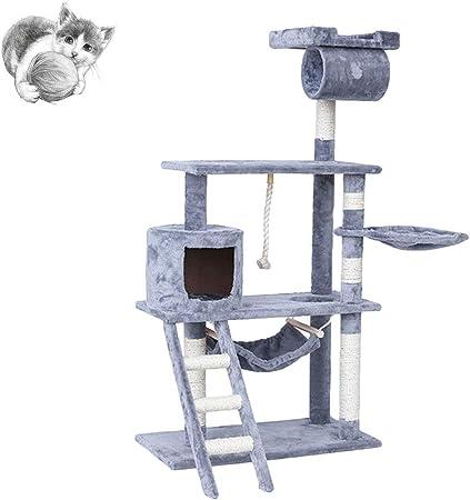 Cat tree Árboles para Gatos Fun Cat Marco De Escalada con Nest One Cat Villa Torre De Árbol De Gato Grande Capas De Gatos De Múltiples Capas Parque De Juegos para Gatos: