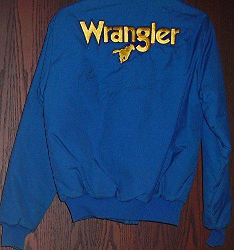Dale Earnhardt Autographed Wrangler Jeans Jacket RARE HUGE SIGNATURE!! LOA - JSA Certified - Autographed NASCAR Miscellaneous Items