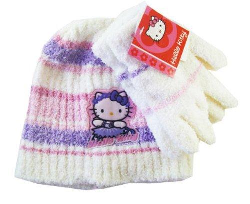 Sanrio Hello Kitty Winter Set (2pc Set) - Hello Kitty Beanie and Mittens Set ()