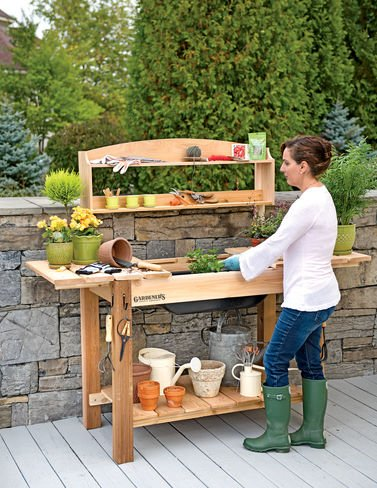 potting bench cedar - 7