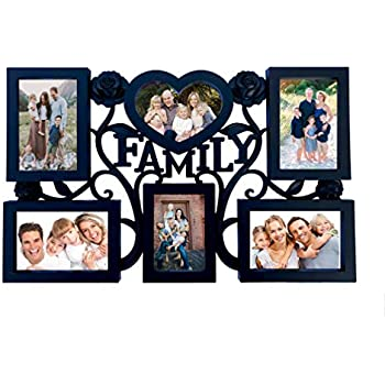 BestBuy Family Photos Collage Picture Frames Wall Hanging Collage Picture Frame with Various Shaped 6 Openings