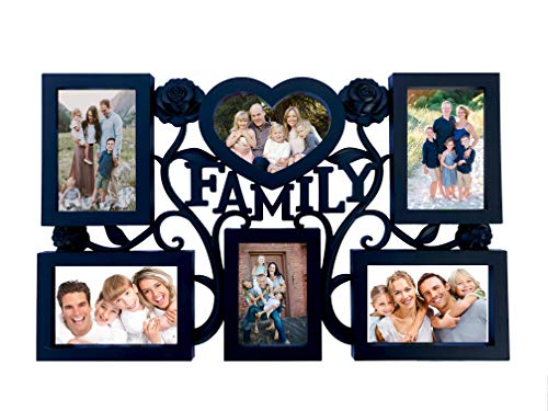 s Collage Picture Frames Wall Hanging Collage Picture Frame with Various Shaped 6 Openings