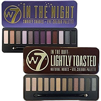 W7 In The Buff Lightly Toasted & In The Night Eye Shadow Pal