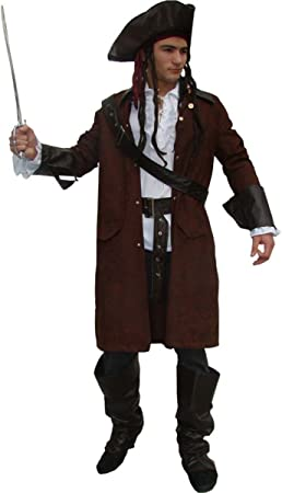 MAYLYNN 12104 Piratenkostüm Kostüm Pirat Jack mit Hut und Zubehör Faschingskostüm Herren Größe M