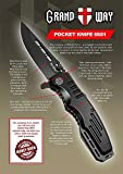 Spring Assisted Knife - Pocket Folding Knife - Military Style - Boy Scouts Knife - Tactical Knife - Good for Camping, Indoor and Outdoor Activities