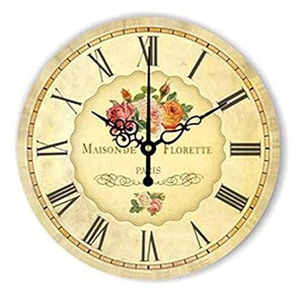 WXIN 14 Pulgadas De Gran Diseño Moderno Reloj De Pared Reloj De La Vendimia Reloj Cocina