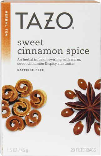 Tazo Herbal Tea Sweet Cinnamon Spice -- 20 Tea Bags - 2 pc