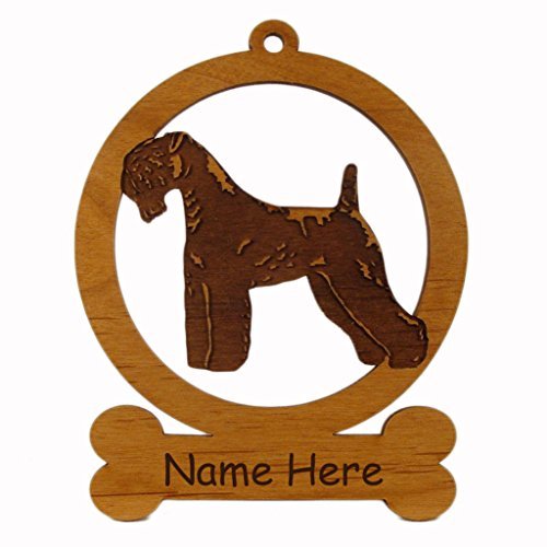 Kerry Blue Terrier Ornaments (Kerry Blue Terrier Standing Dog Ornament 083445 Personalized With Your Dog's Name)