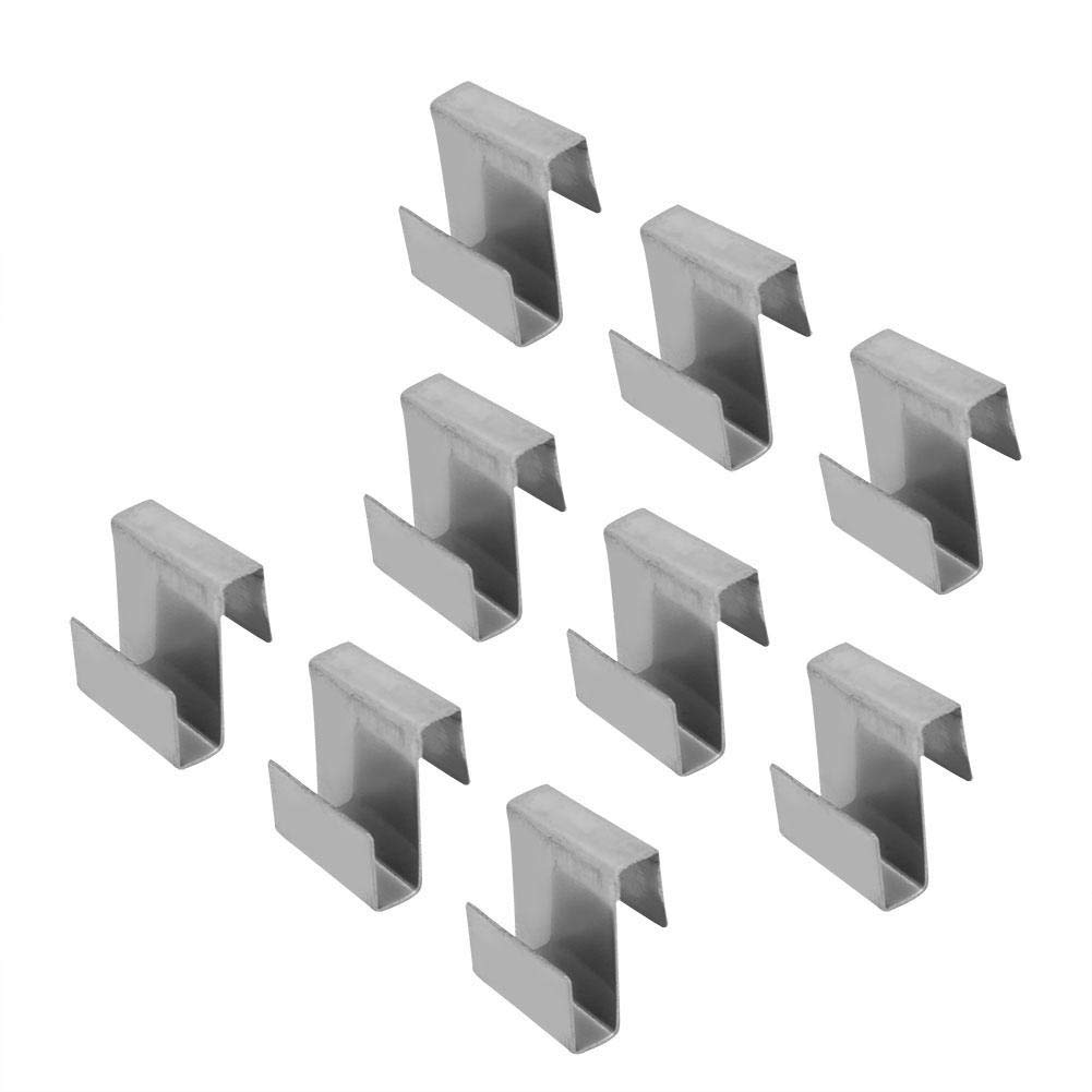 Eastbuy Glass Clips 50pcs Stainless Steel Greenhouse Glass Clamp Overlap S Clips Durable Glass Frame Fixing Clamp